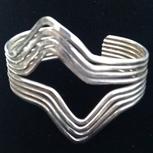 MCM VINTAGE Solid 925 Sterling Silver Cuff *HEAVY*